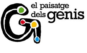 Logo Paisatge dels Genis, el qual agrupa a Gaudí, Miró, Picasso i Casals