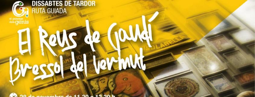 """Ruta guiada """"El Reus de Gaudí, bressol del vermut""""; El Paisatge dels Genis"""